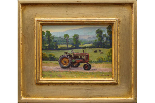 """Vintage Tractor in Porter Valley, Virginia"" <br />8x10"" oil --sold-- #1508"