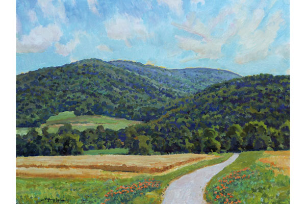 """""""Summer Shenandoah Mountain-scape"""" <br /> 12x16"""" oil - available - #1714 <br /> 'Twas a fine summer morning in June."""