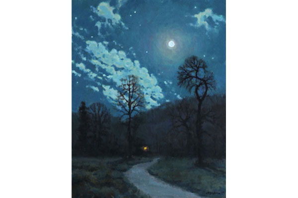"""Country Nocturne"" <br /> 20x16"" oil - available - #1717 <br />"