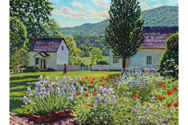 """Ash Lawn Garden on a Spring Afternoon"" <br /> 12x16"" oil - available - #1623 <br />"