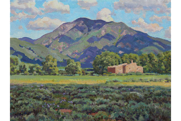"""Pueblo Peak, Des Montes View"" <br /> 8x10"" oil - not available - #1722 <br /> A Taos Valley, New Mexico subject."