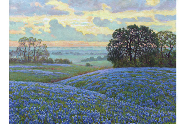 """Spring Morning, Texas"" <br /> 30x40"" oil - sold - #1627 <br />"